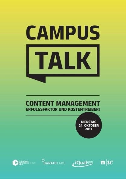 Flyer Campus Talk