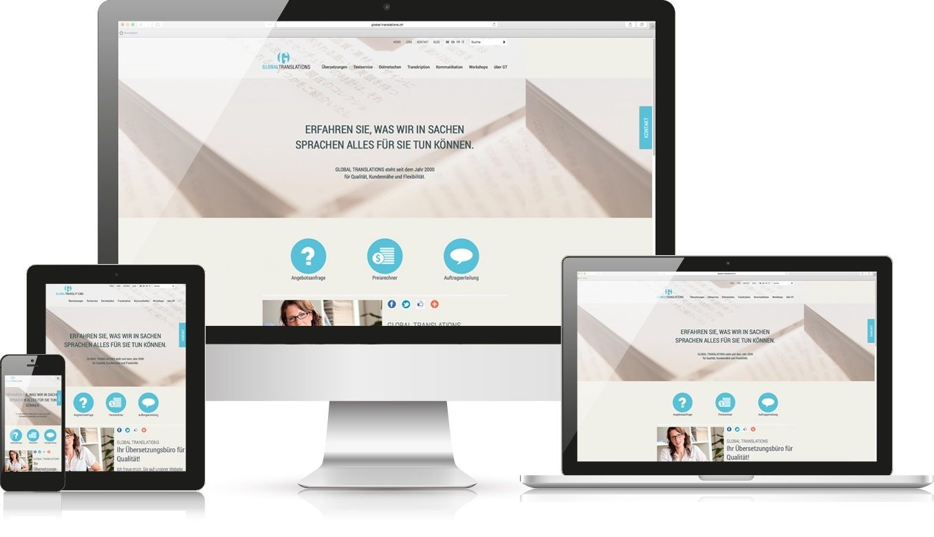 Responsive Webdesign Global Translations