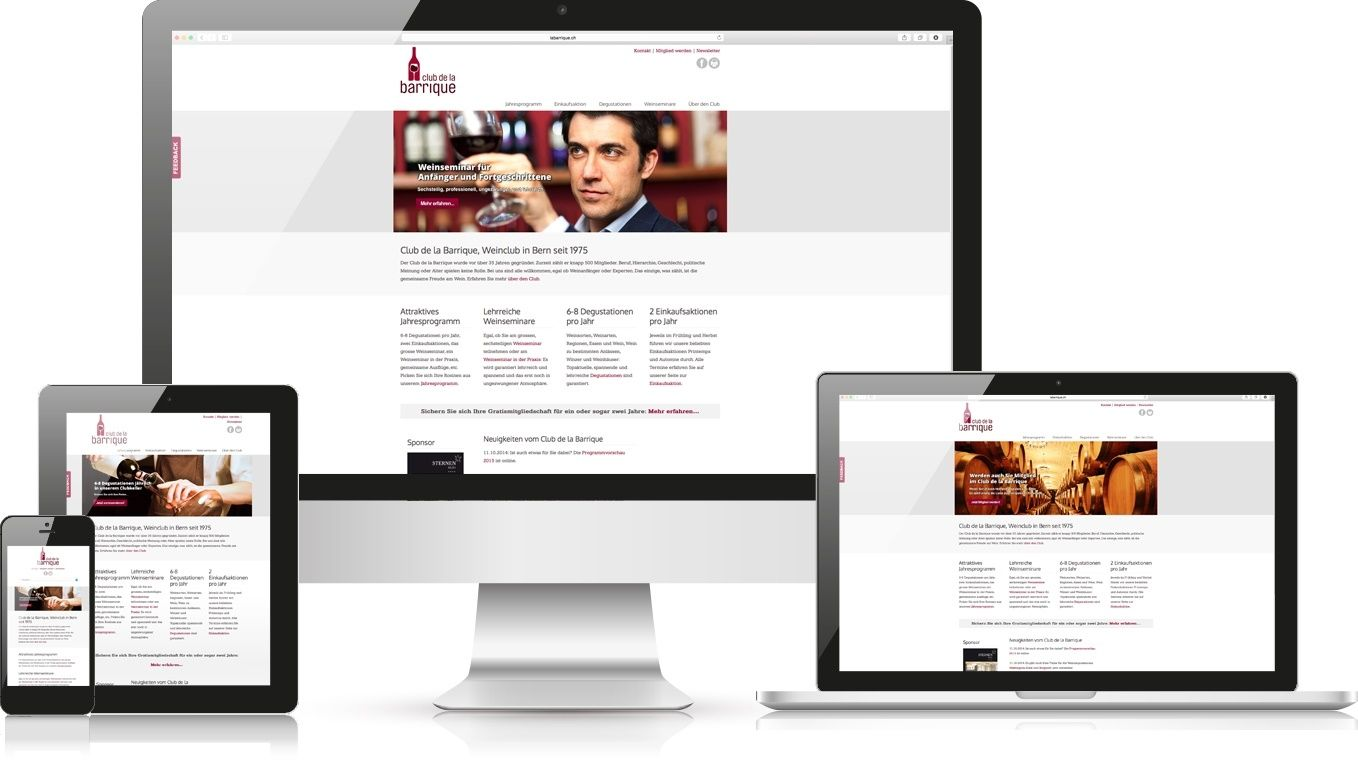 Responsive Webdesign La Barrique