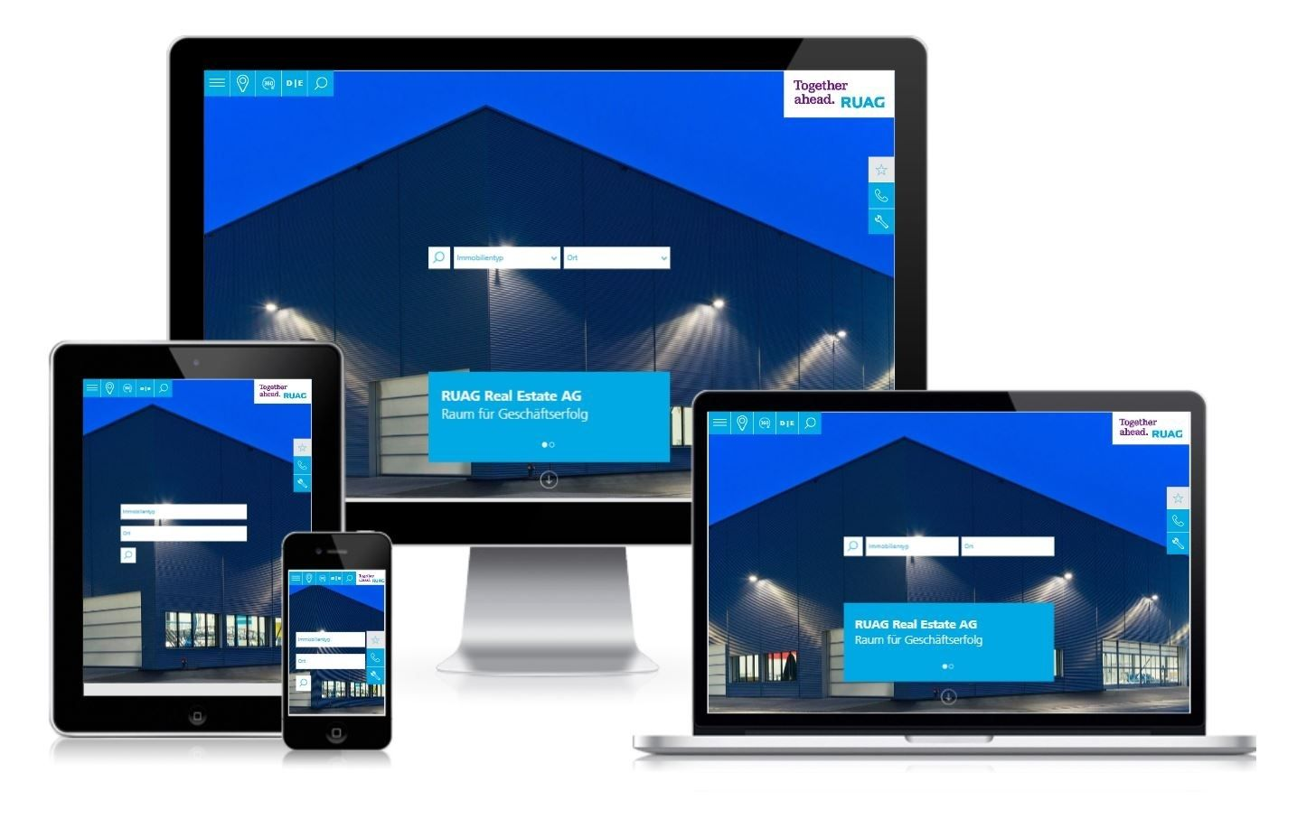 Responsive Webdesign Ruag Real Estate