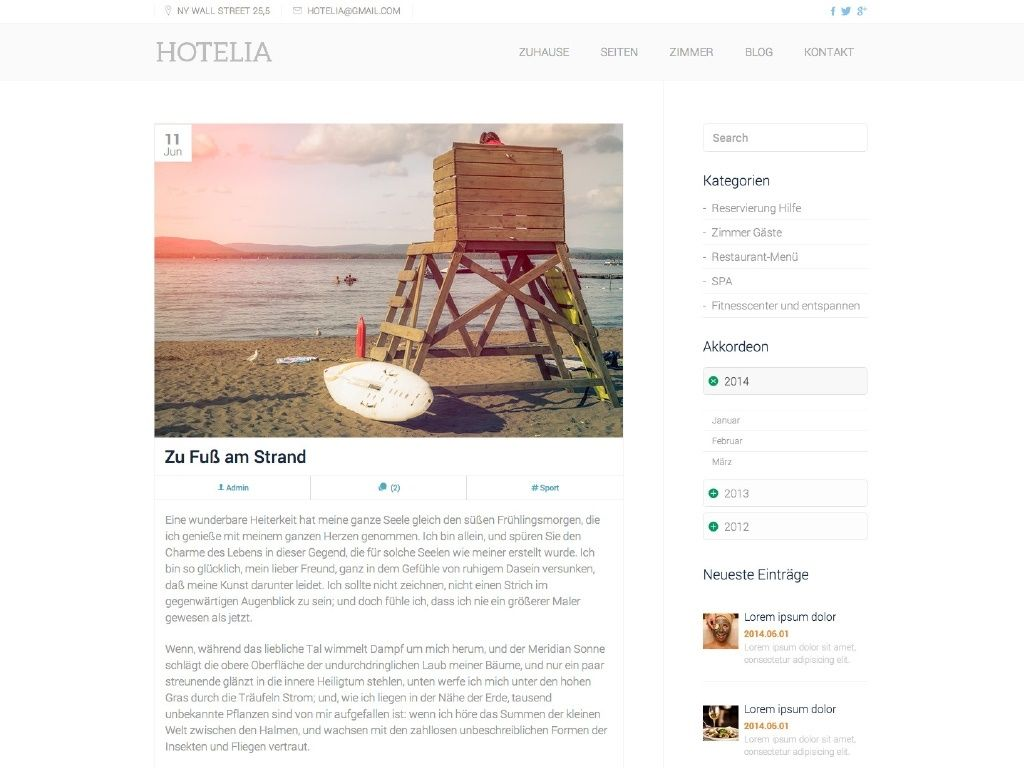 Theme iQual Website Hotelia2