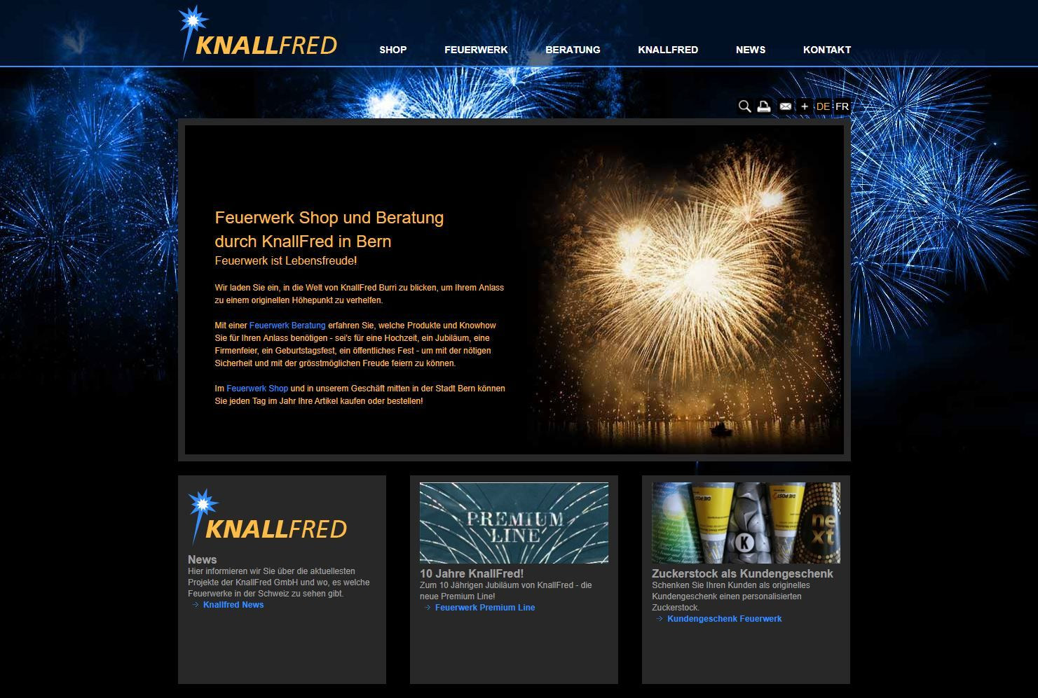 Website Knallfred