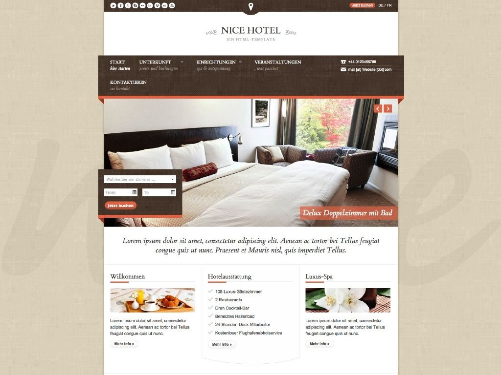 Themes iQual Website NiceHotel