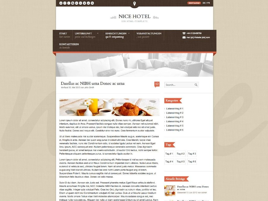 Themes iQual Website NiceHotel2