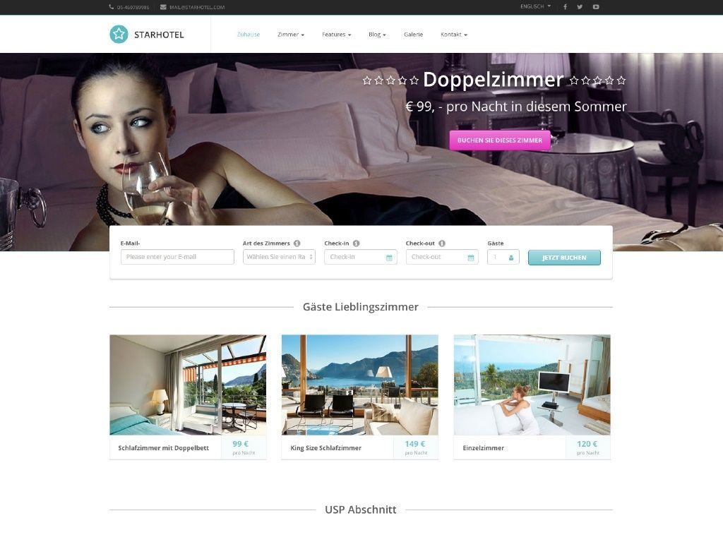 Theme iQual Website Starhotel