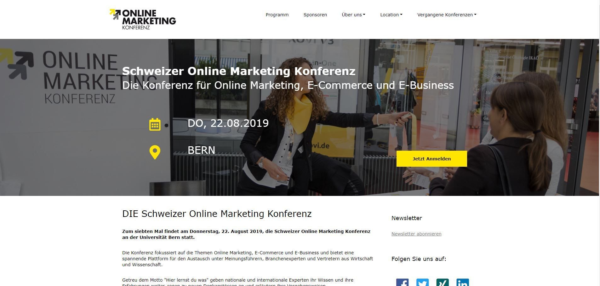 Website Online Marketing Konferenz