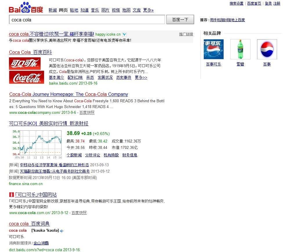 Grafik Baidu Suchabfrage