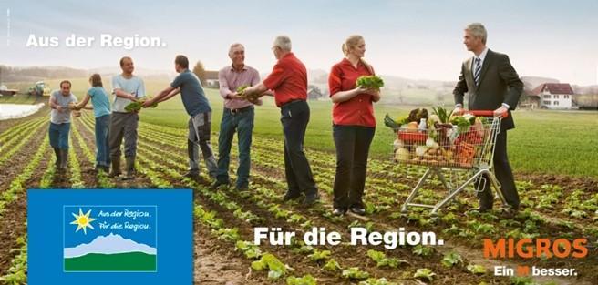 Migros aus der Region Kampagne