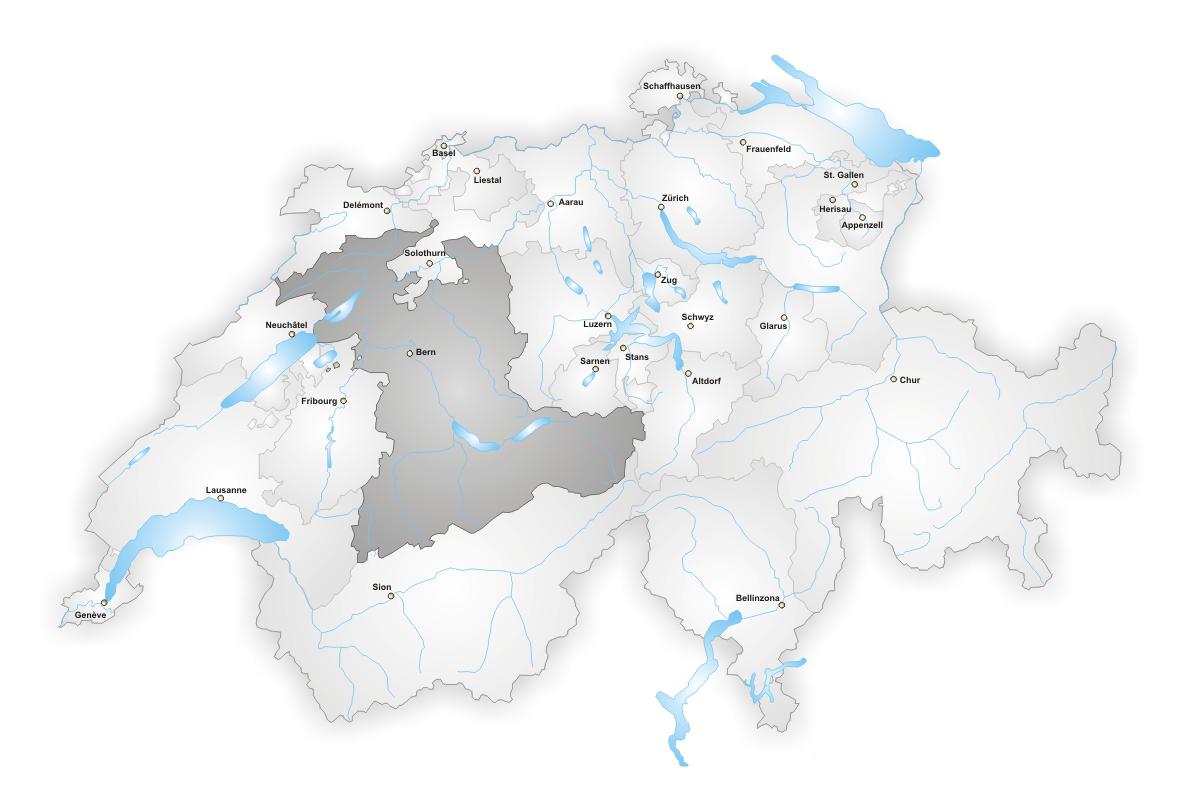 Karte Lage Kanton Bern