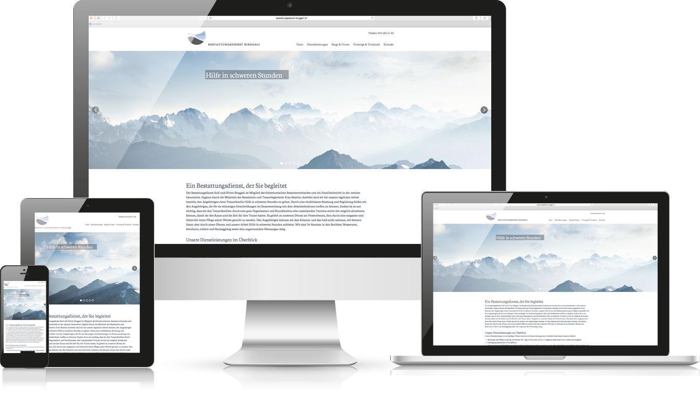 Responsive Webdesign Bestattungsdienst Wasseramt