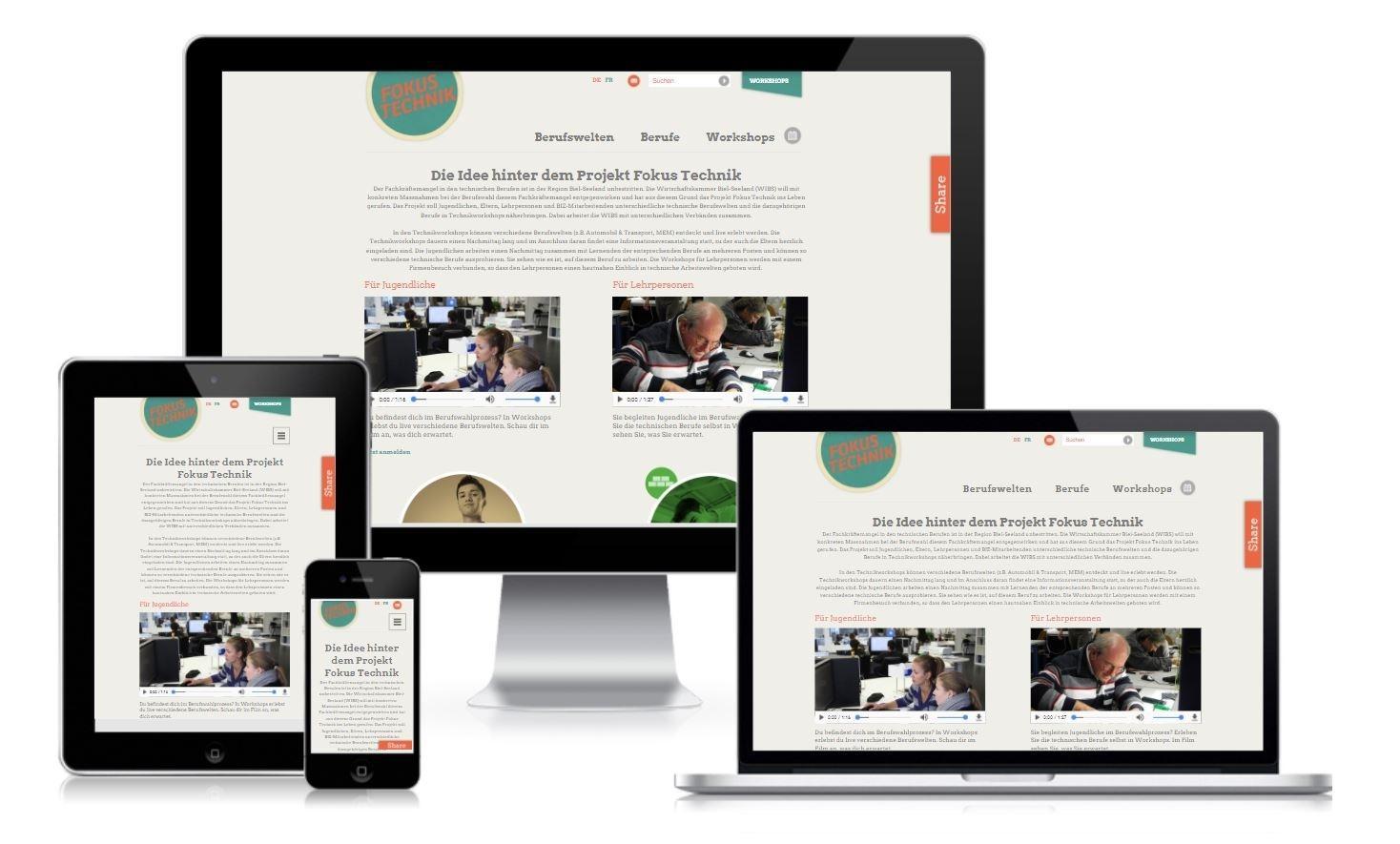 Responsive Webdesign Fokus Technik