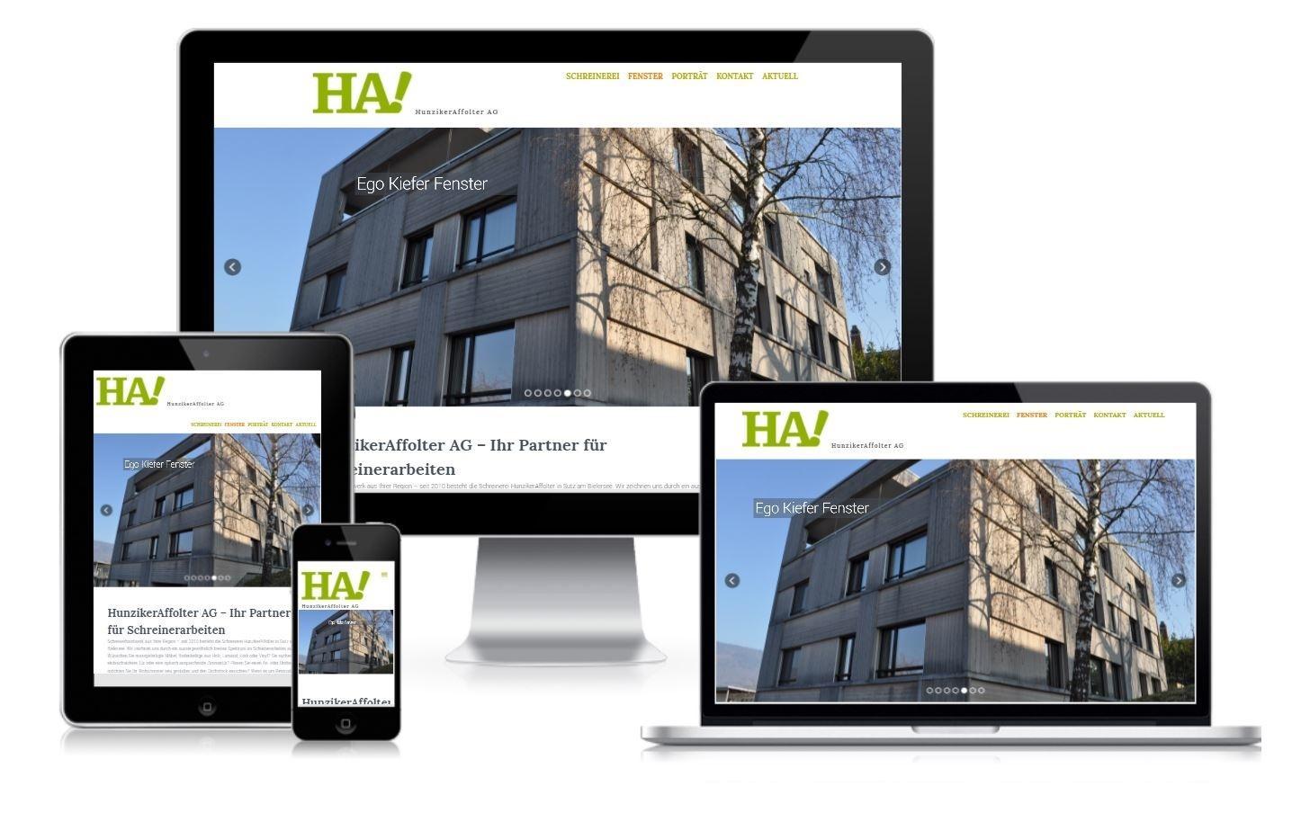 Responsive Webdesign Hunziker Affolter