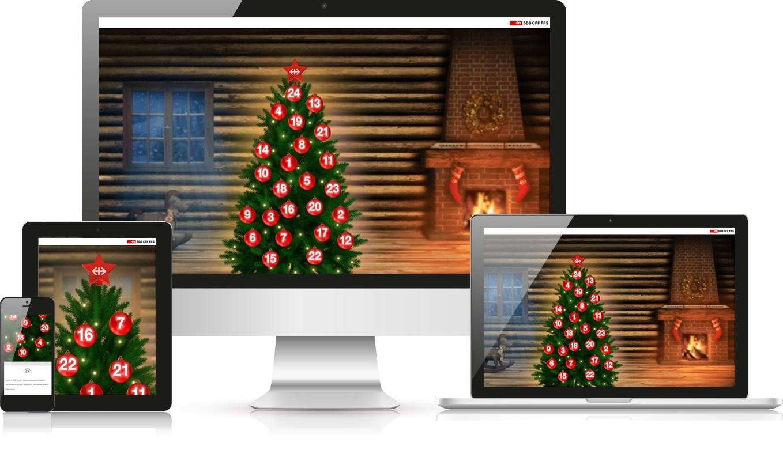 Responsive Webdesign SBB Adventskalender 2017