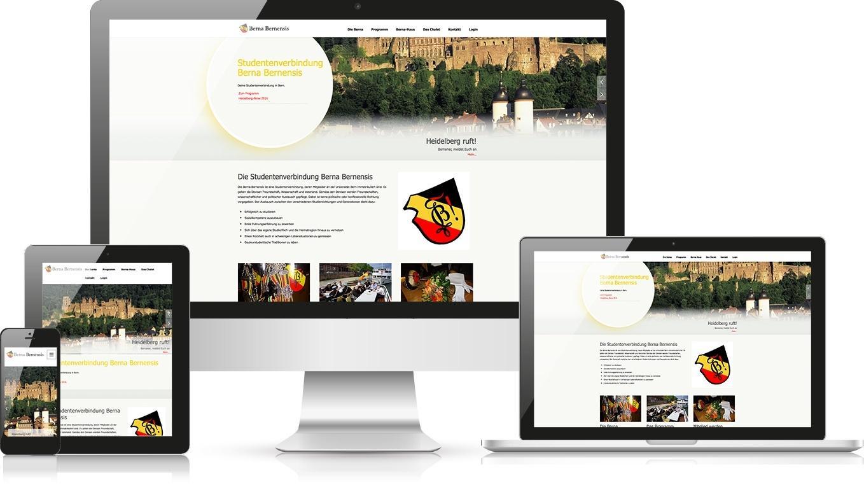 Responsive Webdesign Studentenverbindung Berna-Bernensis