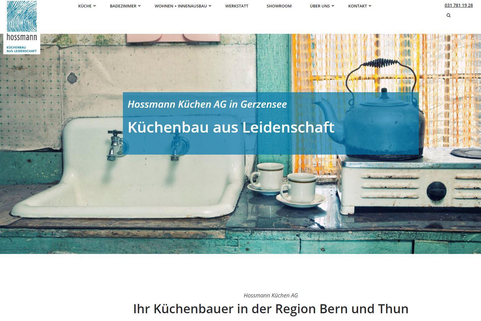 Website Hossmann Küchen