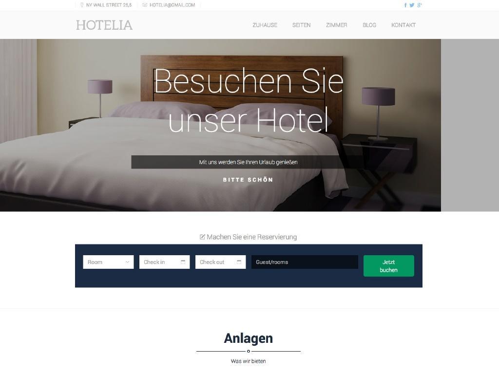 Theme iQual Website Hotelia