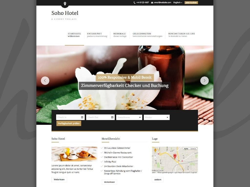 Themes iQual Website SohoHotel