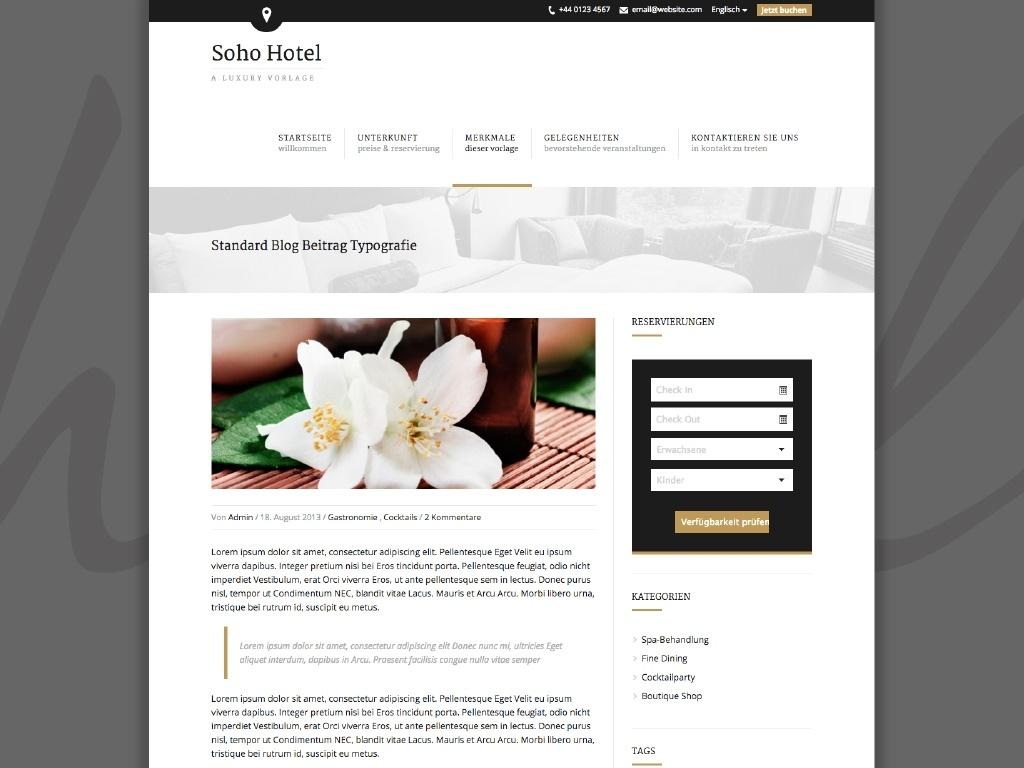 Themes iQual Website SohoHotel2