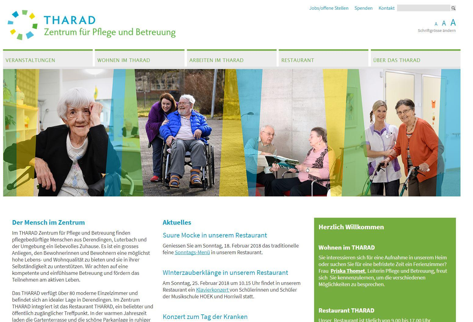 Referenz iQual Website Tharad