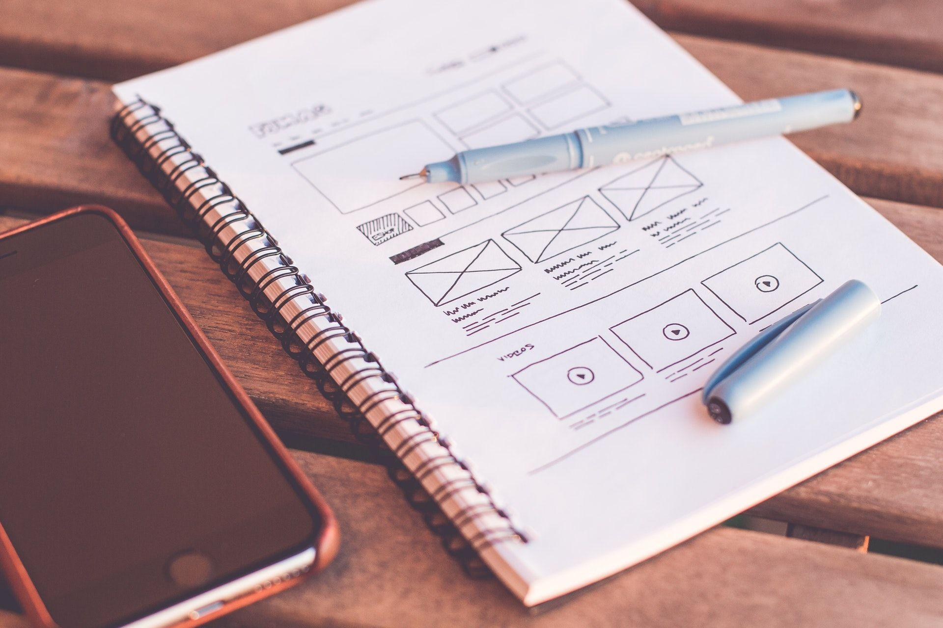 Bild-Webdesign-Wireframe