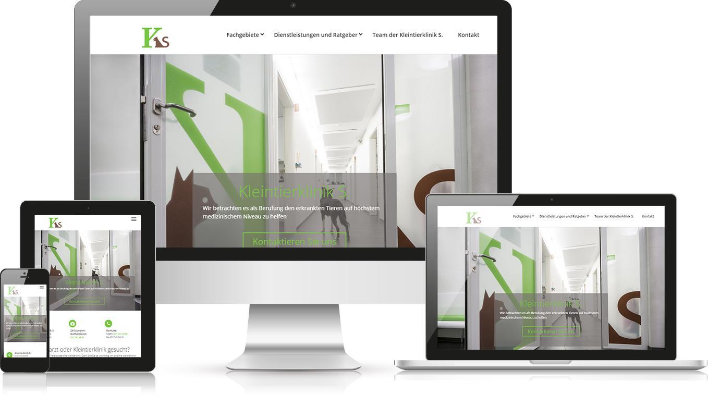 Responsive Webdesign Kleintierklinik S.