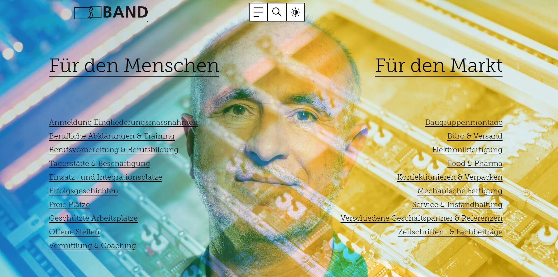 Website BAND Genossenschaft