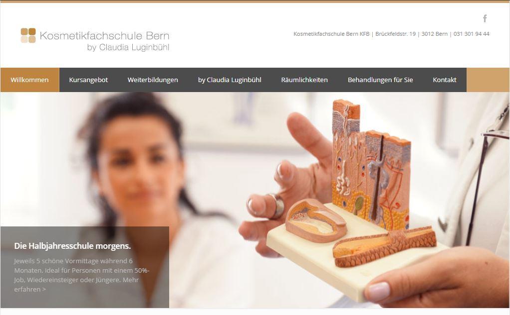 Website Kosmetikfachschule Bern