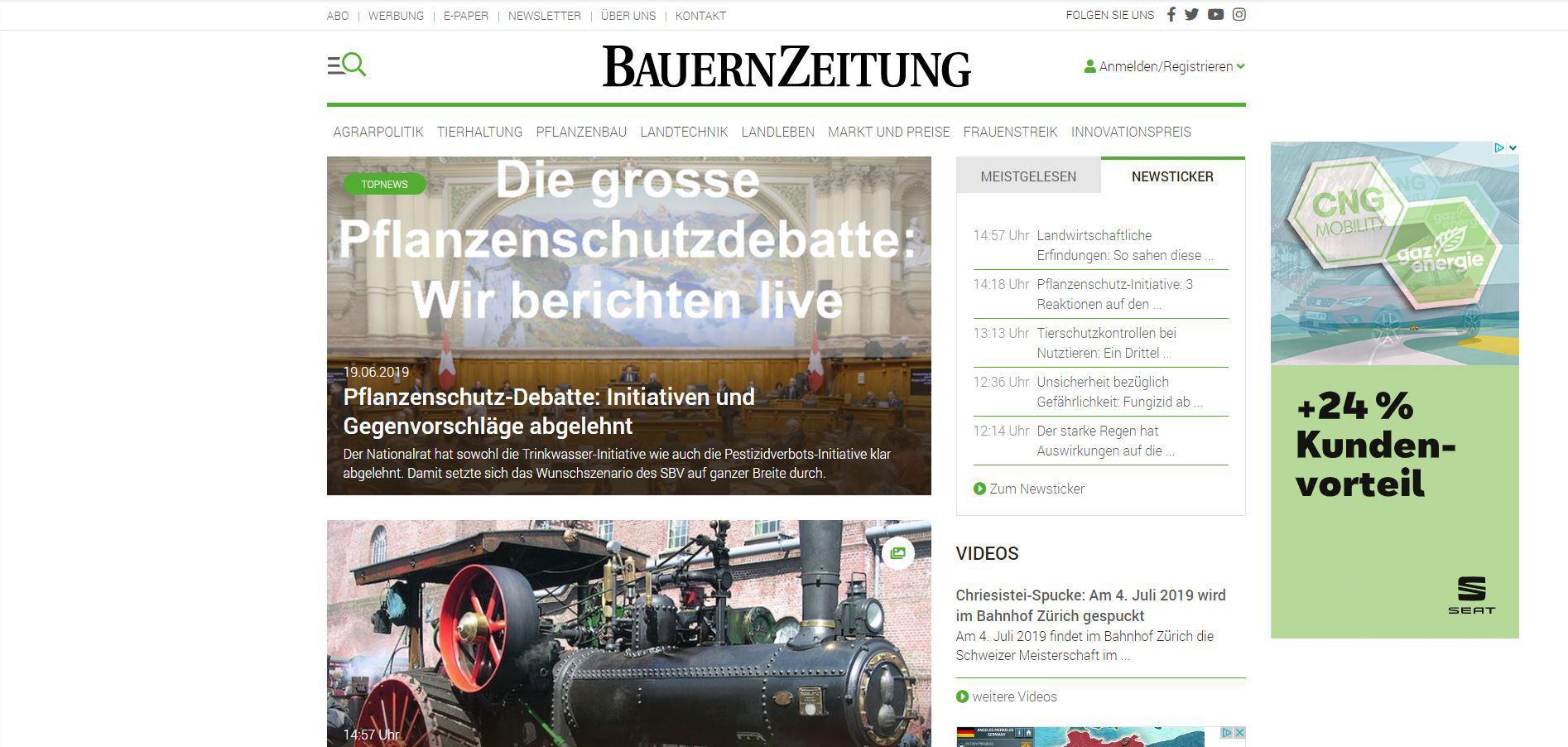Schweizer Agrarmedien AG: SEO – Beratung und Coaching