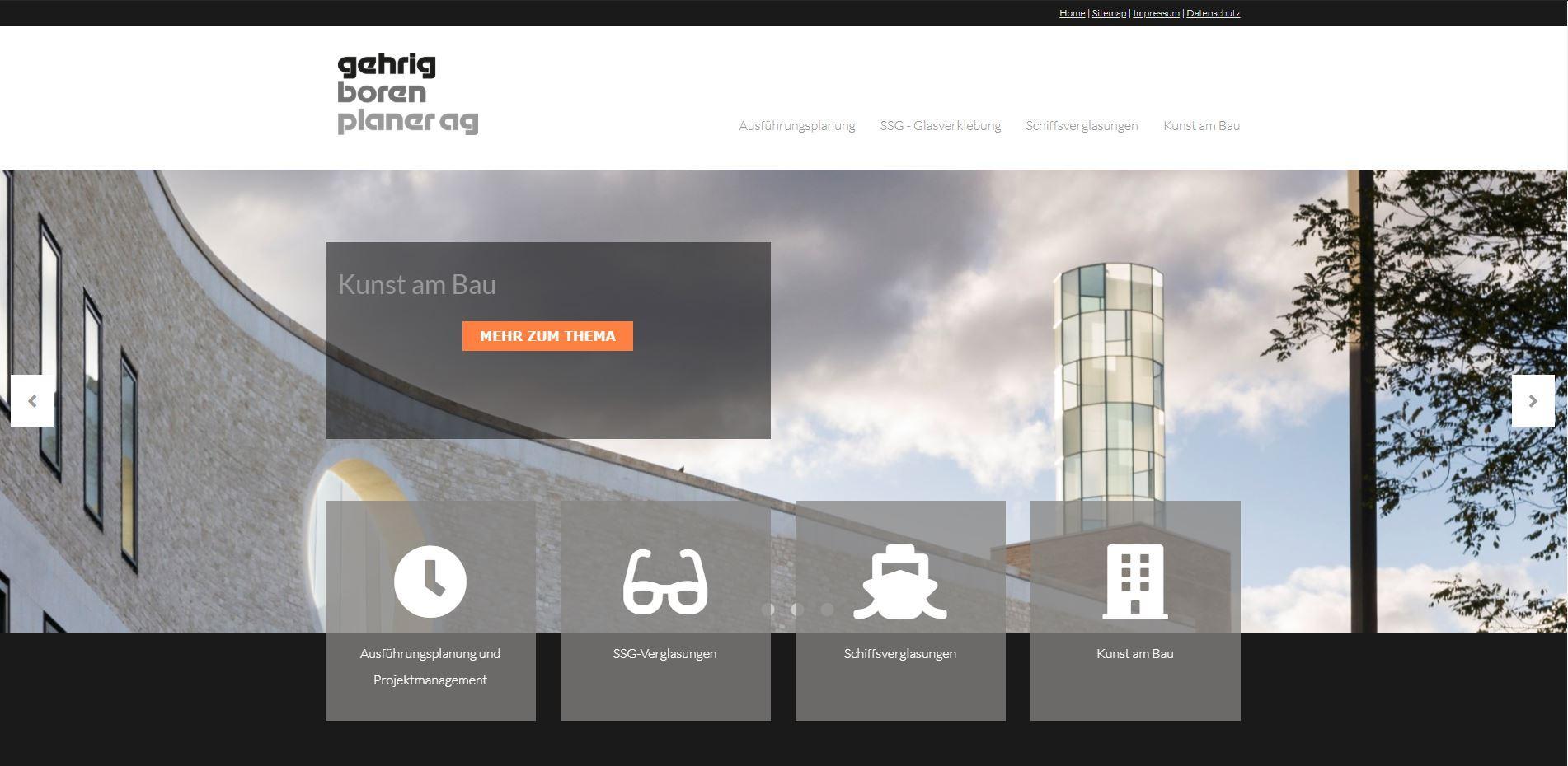 Neue Website für die Gehrig Boren Planer AG
