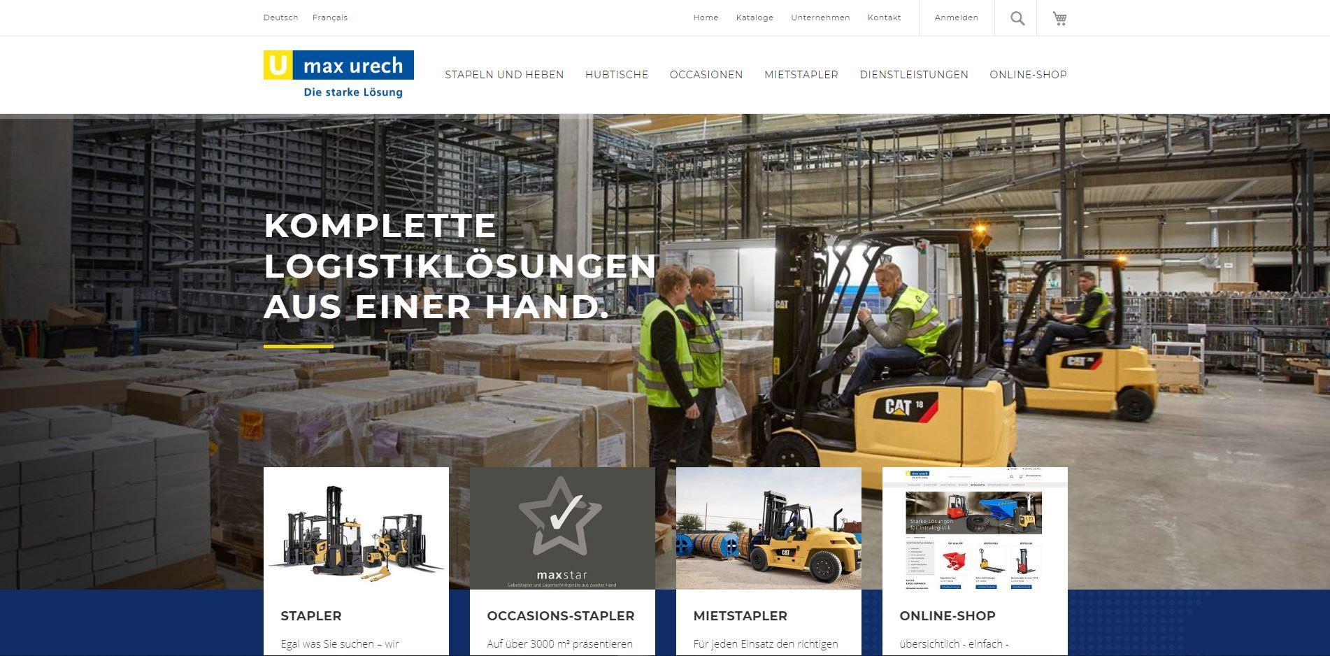 Website Max Urech AG
