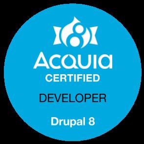 Badge Zertifizierter Drupal-Entwickler
