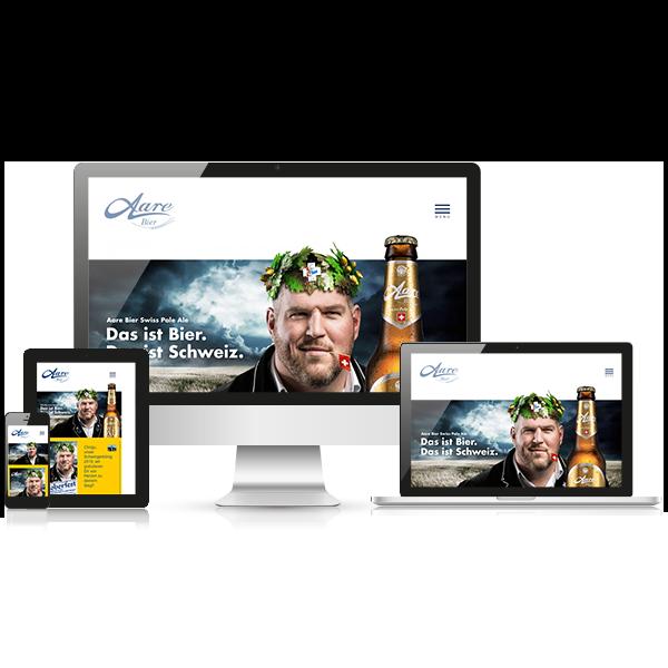 Website Aare Bier