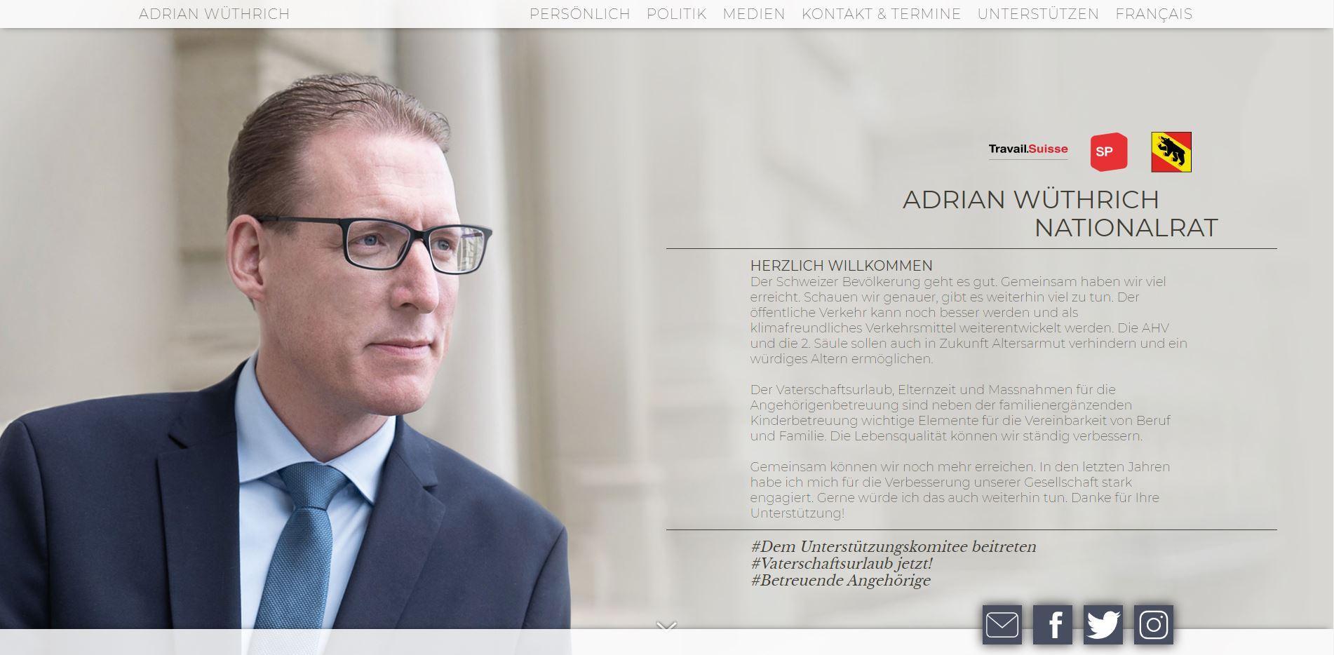 Website Adrian Wüthrich