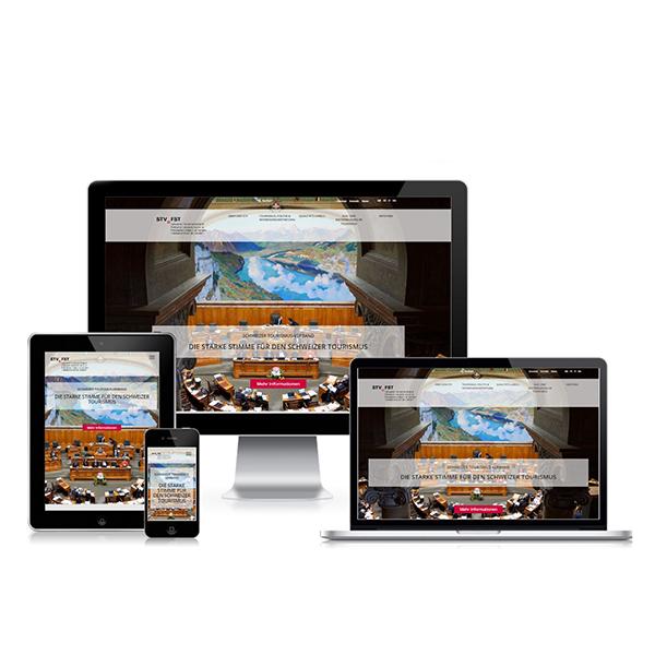 Webauftritt Schweizer Tourismus - Verban