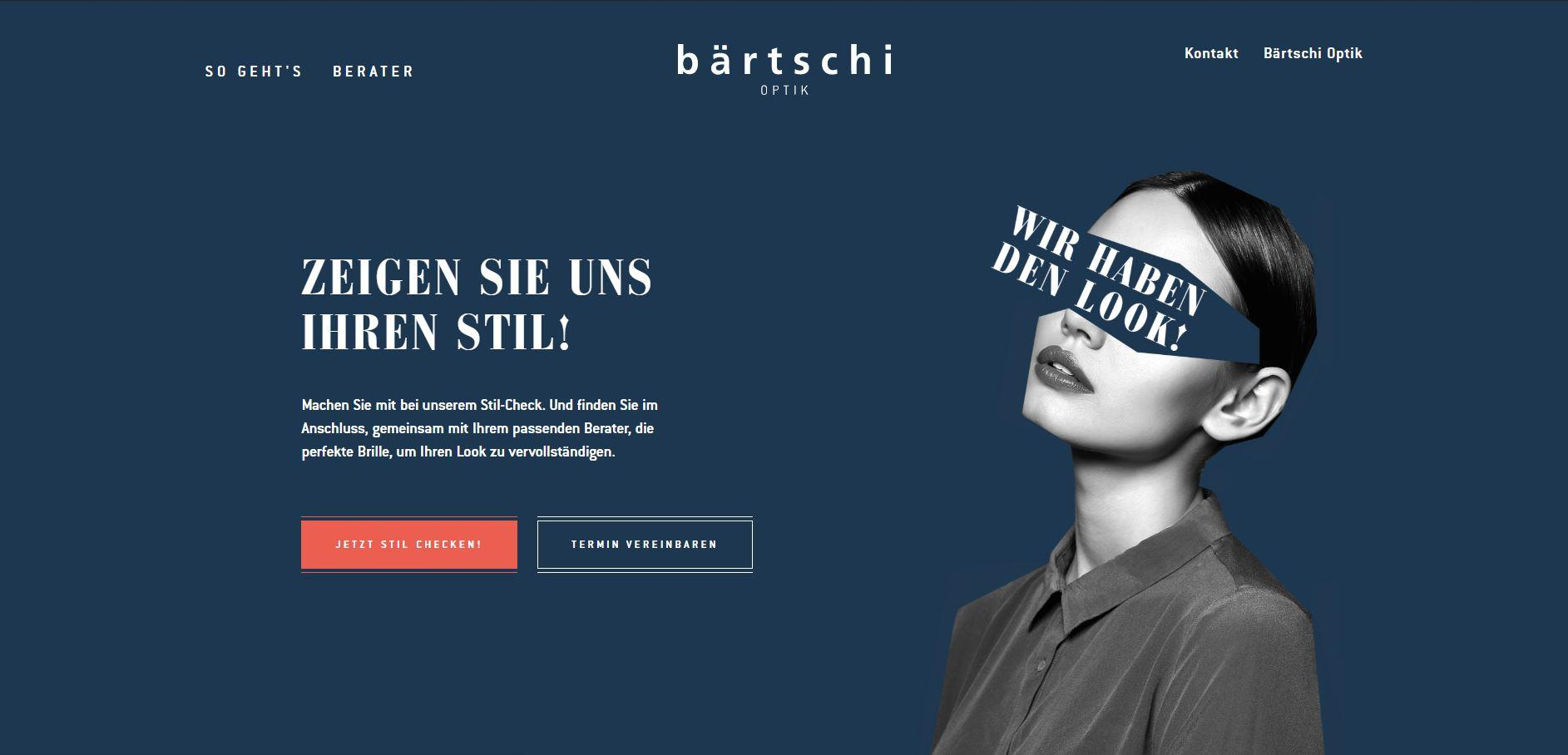 Website Bärtschi Optik