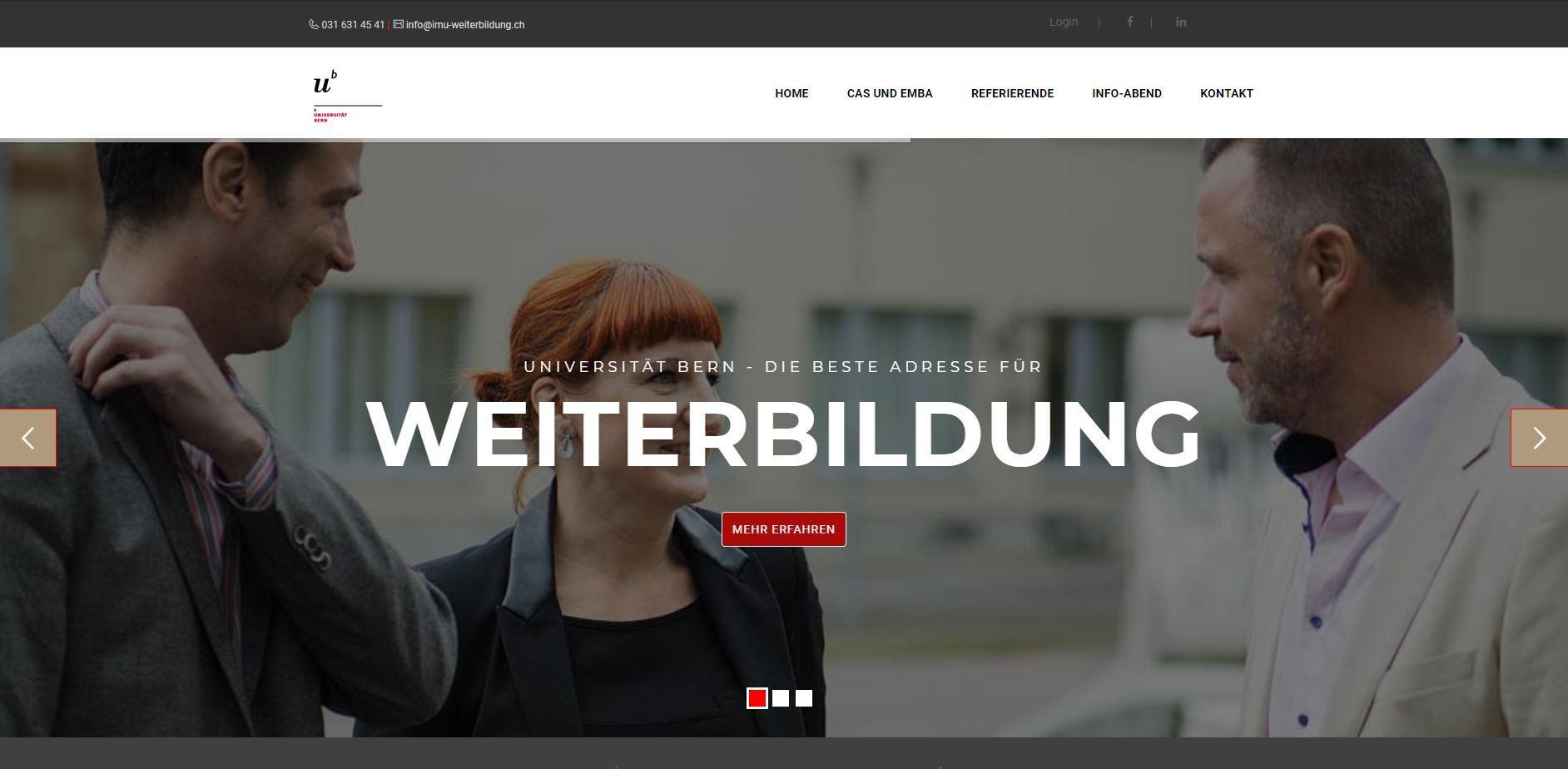 Website IMU-Weiterbildungen