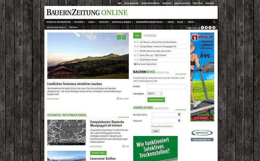 Website Schweizer Agrarmedien